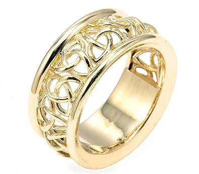 Men\'s 14k Yellow Gold Trinity Knot 9.5\