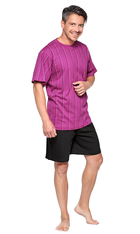 Moonline nightwear Maniche Corte Uomo Pigiama Due Pezzi