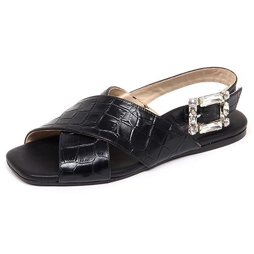 huge selection of 03a64 2551d ANNA BAIGUERA F4176 Sandalo Donna Black Ave Scarpe Shoe ...