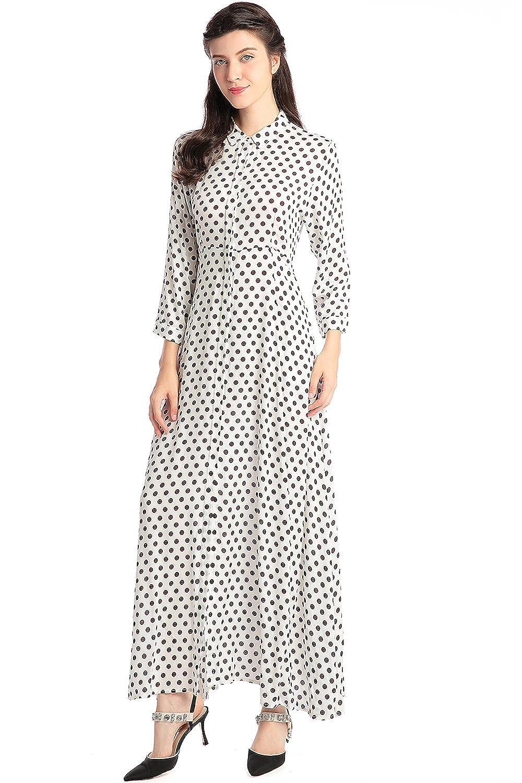 Amazon Boho Style Long Sleeve Maxi Dress Women Shirt Dresses