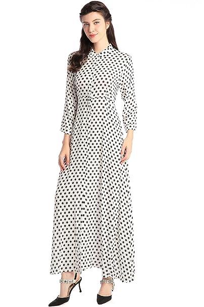 Camisa de vestir de manga larga de estilo Boho para mujer vestidos Vestido maxi de estampado