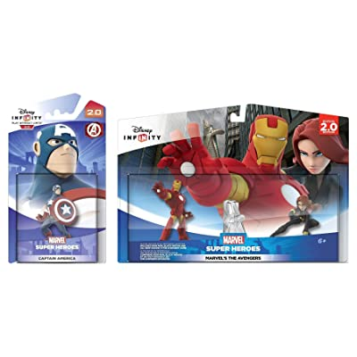 Disney Infinity 2.0: Marvels Avengers Playset: Iron Man + Black Widow w/ Captain America - Figure Set NEW: Toys & Games