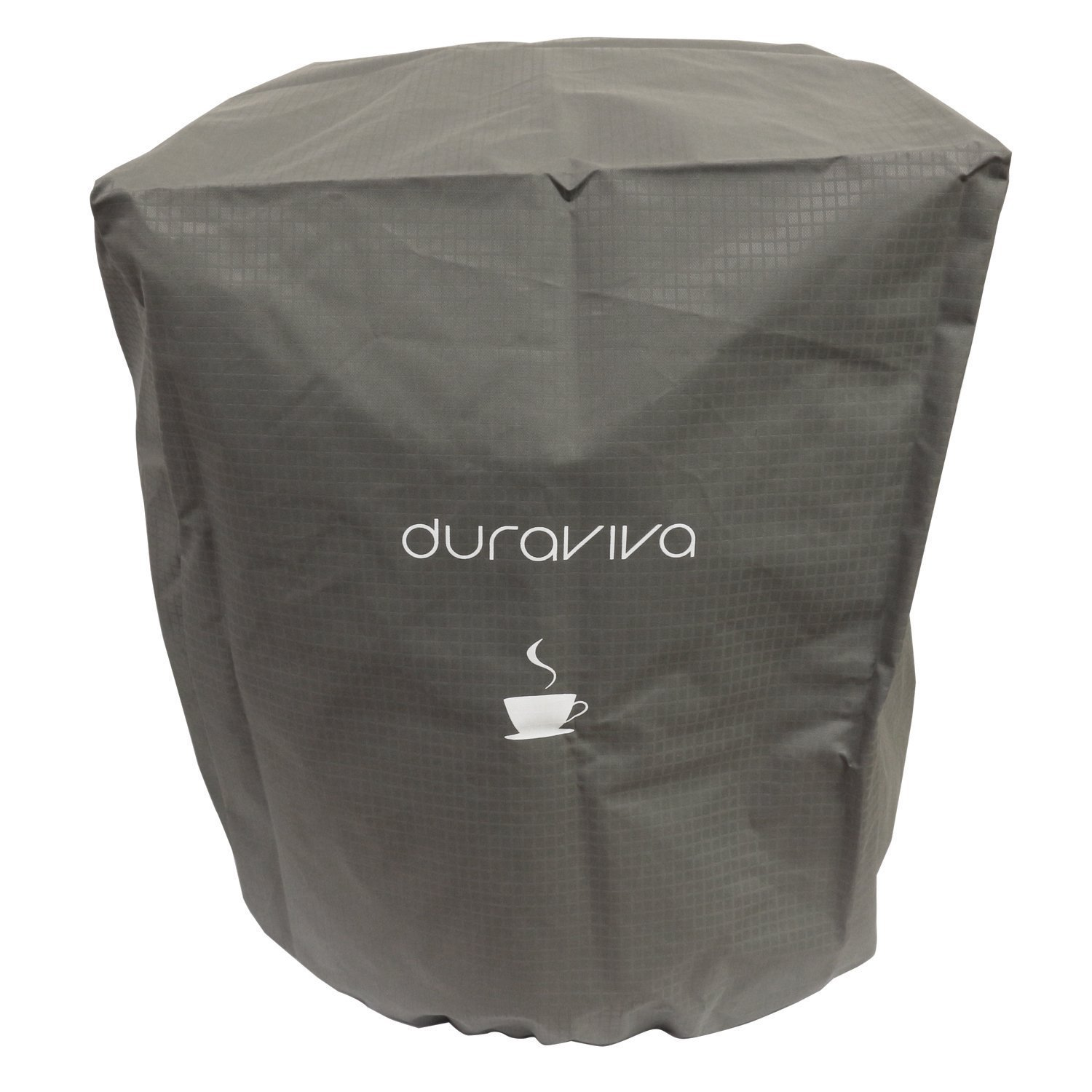 Duraviva Coffee Maker Cover - Nylon, Waterproof, Universal Fit - Fits Keurig K50 K400 K500 series and Similar Brewing Systems (Gray)