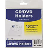 C-Line Self-Adhesive CD Holder, 5.33 x 5.66 Inches, Clear, 10 per Pack (70568)