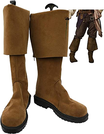 Snuter Film Cosplay Chaussures Pirate Jack Marron Bottes