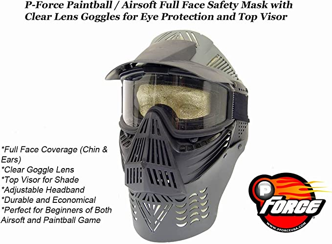 Paintball Airsoft Game Face Guard Impact Resistance Face Protective Equipment