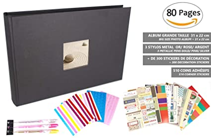 SFL+ Present Álbum de Fotos: álbum de Scrapbooking, 31 x 22 cm, 80