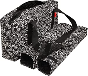 American-Wholesaler Inc. New! - Empty Mahjong Bag - Paisley Black Soft Bag by Linda Li - Empty Bag Only