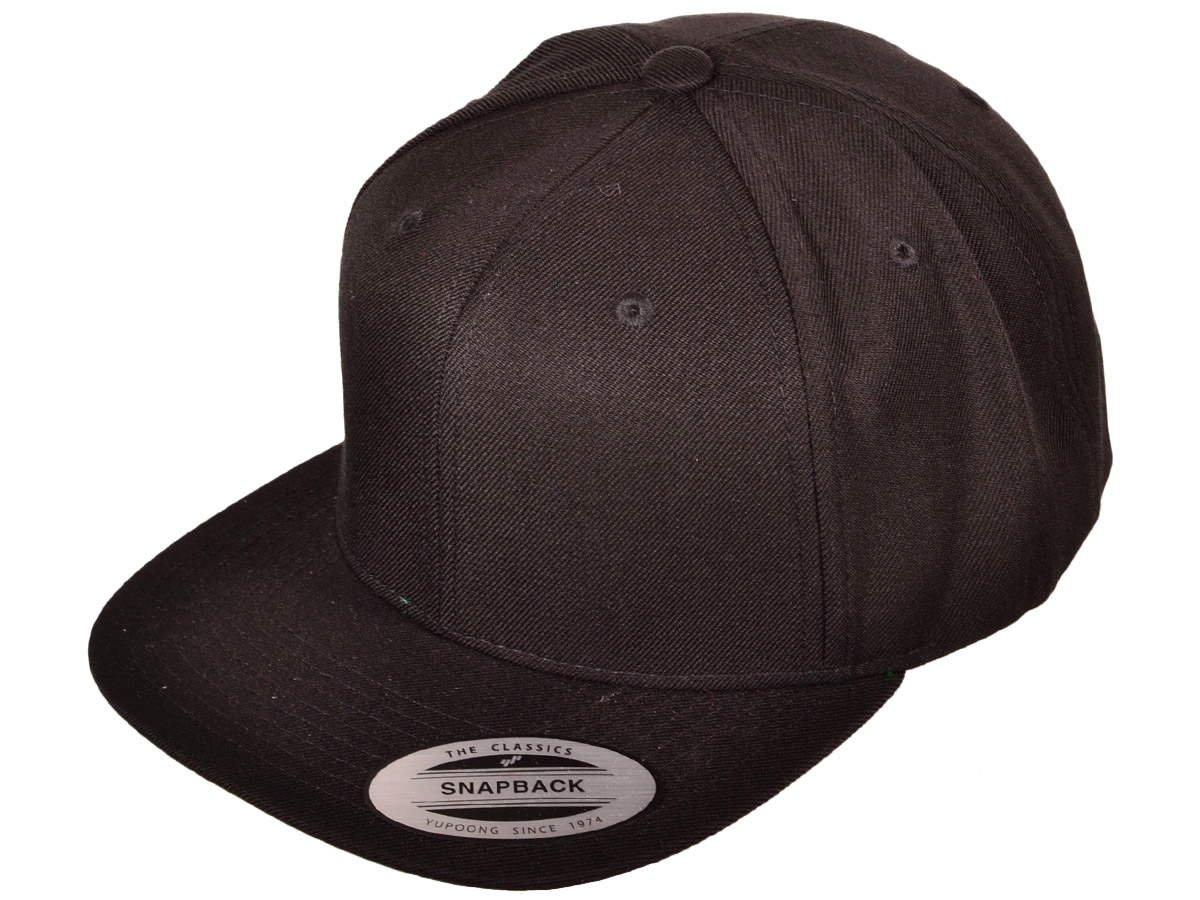 Amazon.com   Wholesale Wool Blend Flexfit Yupoong Flat Bill Blank Snapback  Hats w  Green Underbill (Black)   Sports   Outdoors f333c210c71