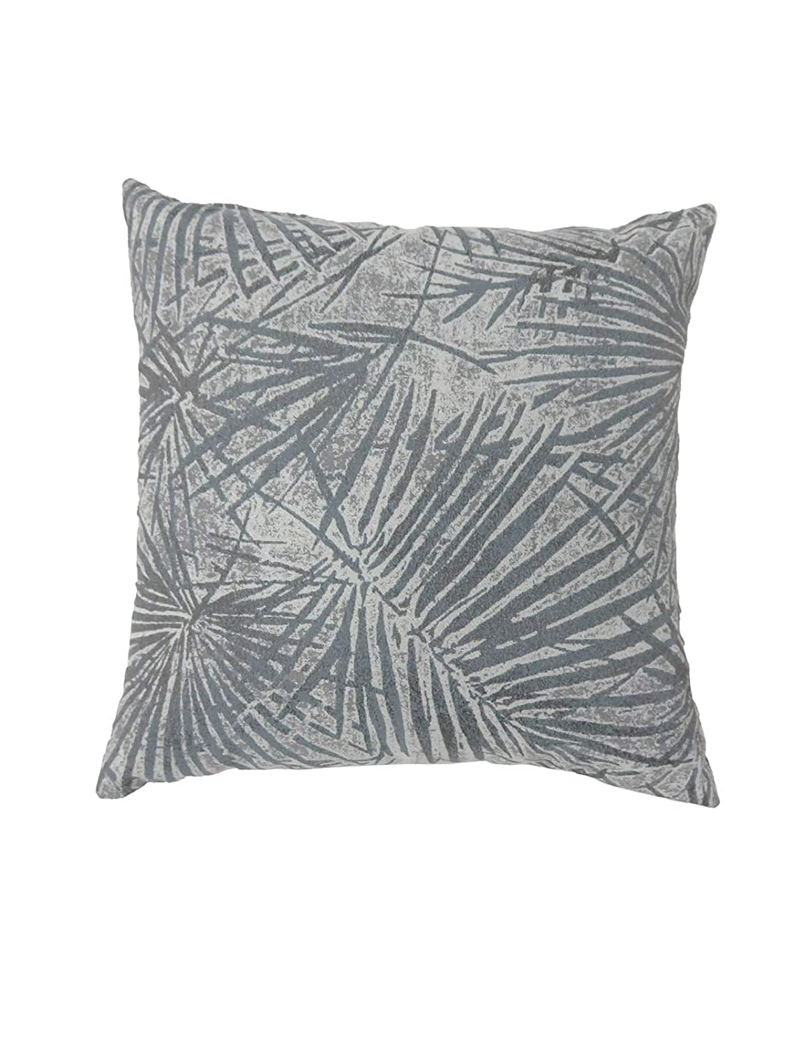 Set of Two Benzara BM178010 Contemporary Style Palm Leaves Designed Throw Pillows Gray