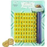 Gracelife 73 pcs Alphabet, Number, Letter Symbols Biscuit Fondant Cake/Cookie Stamp Impress Embosser cutter - Mold Tool…