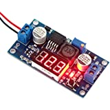 DROK Micro LED DC-DC Digital Boost Voltage Converter LM2577 3-34V to 4-35V 5V/12V 2.5A Step-up Adjustable Volt Regulator Board Module Power Supply Transformer