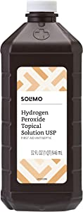 Amazon Brand - Solimo Hydrogen Peroxide Topical Solution USP, 32 Fl. Oz