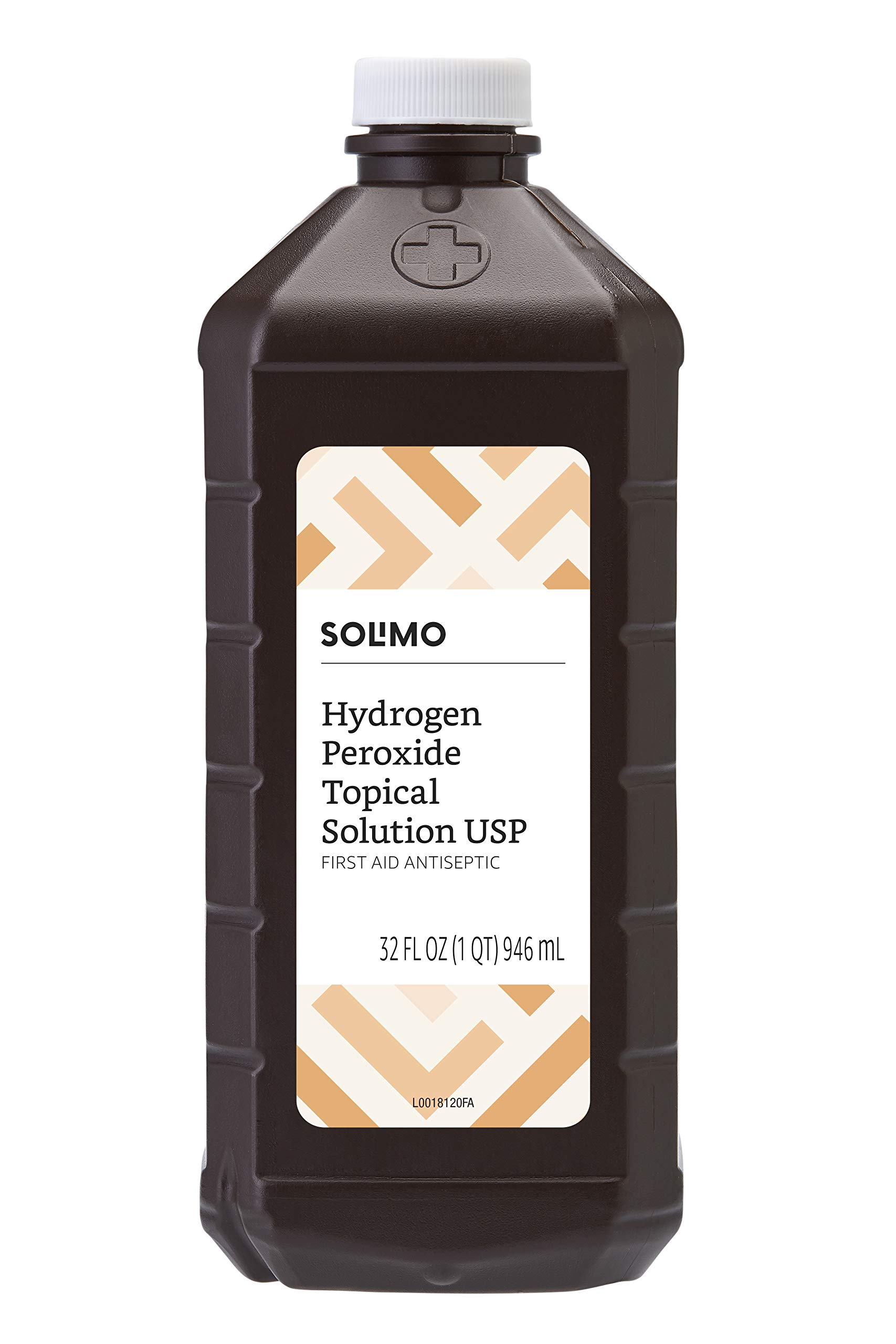 Amazon Brand - Solimo Hydrogen Peroxide Topical Solution USP, 32 Fl Oz