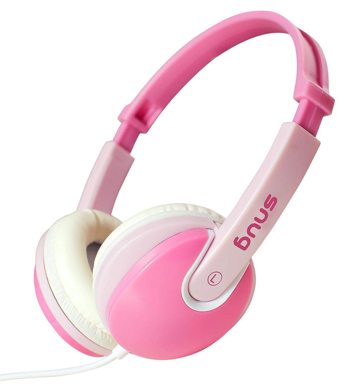 Snug Plug n Play Kids Headphones for Children DJ Style (Pink)