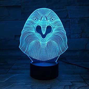 KangYD Creative Owl 3D Night Light, LED Atmosphere Lamp, Gradient ...