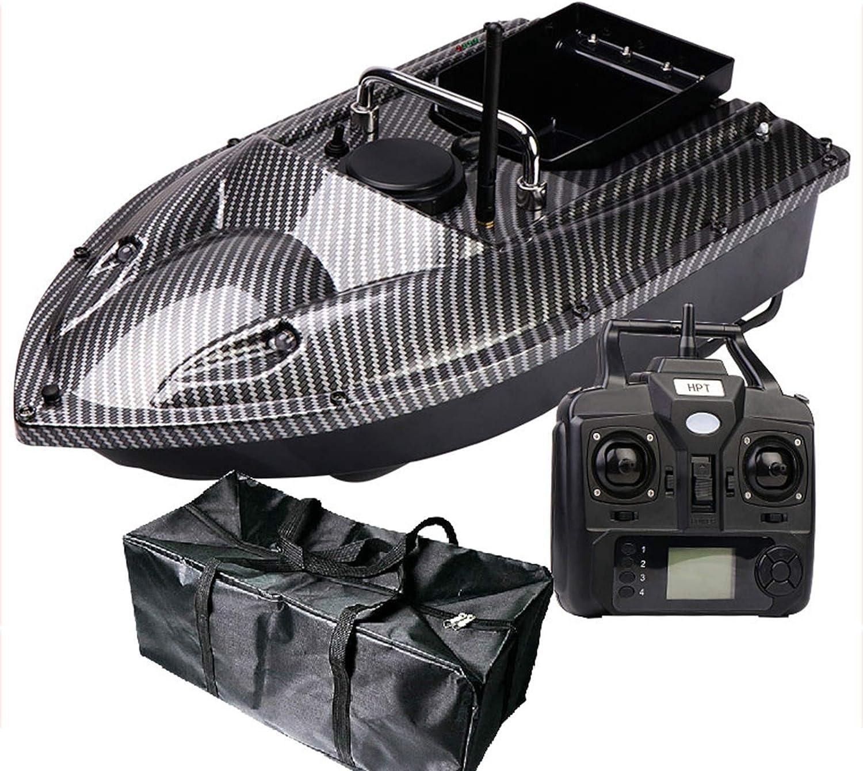 FDYD GPS Bait Boat, RC 500m / 1640ft Control Remoto Pesca Bait Boat 2kg Cargando 3 unids Tanques, Bait Boat Pesca para Piscinas y Lagos