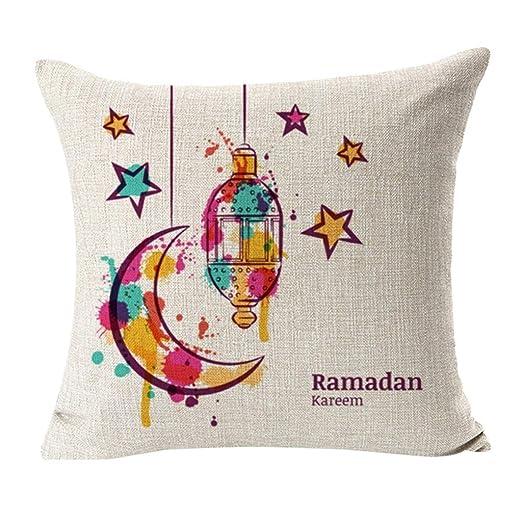 dzt1968 Ramadan Festival Funda de Almohada de Lino con ...