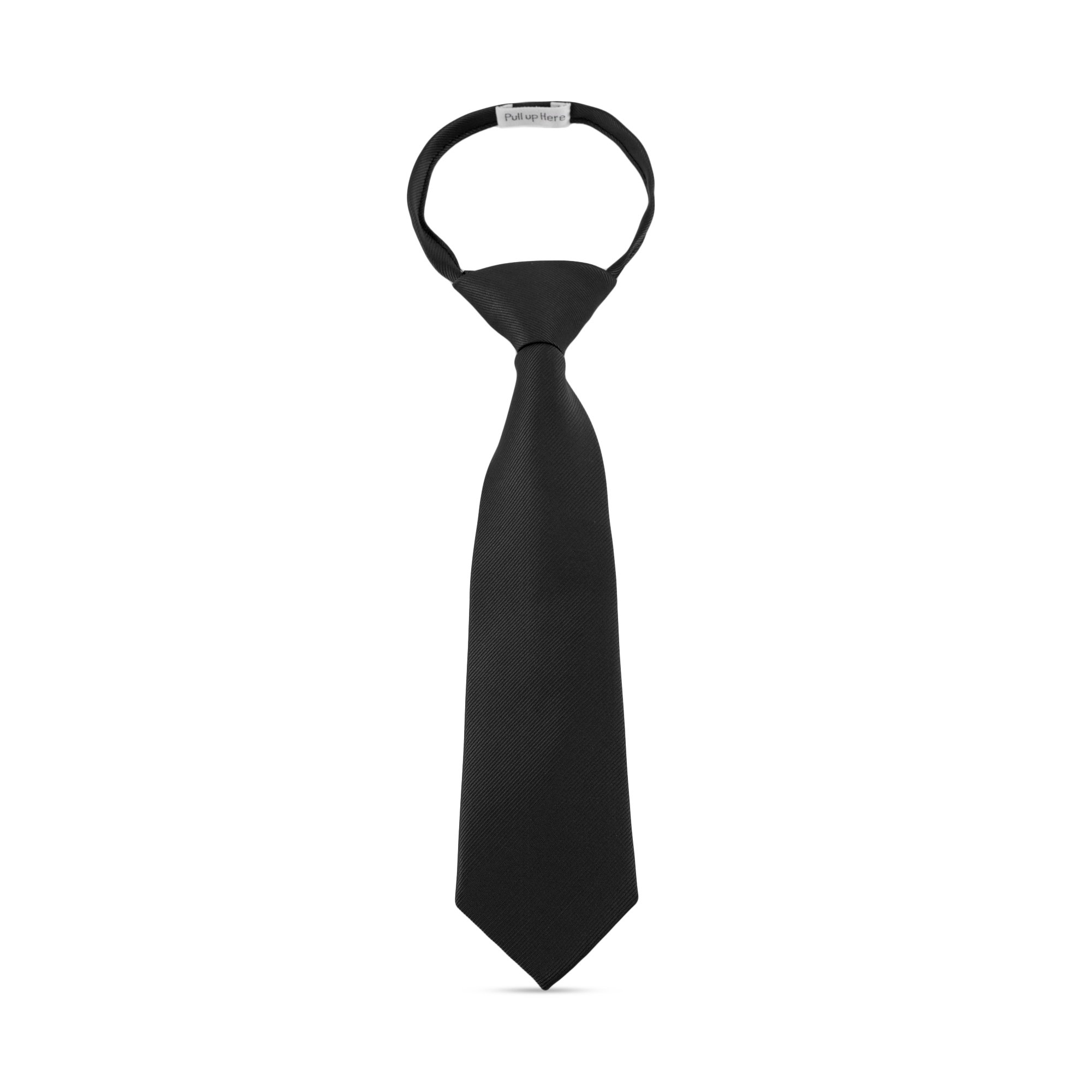 Handmade 11'' Zipper Ties For Boys Woven Boys Black Ties: For Kids Wedding Graduation