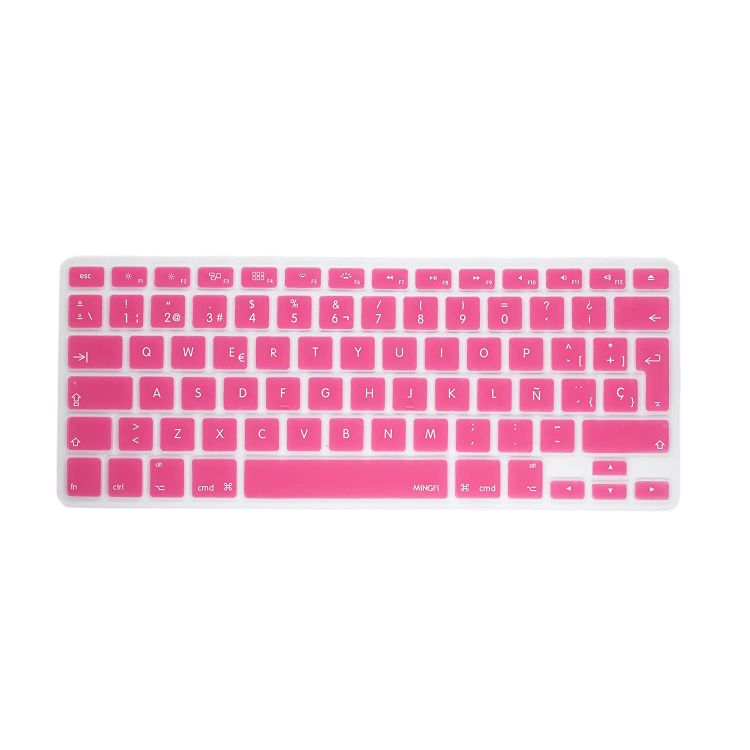 MiNGFi Allemand German Clavier Coque de Protection / Couverture QWERTZ pour MacBook Pro 13' 15' 17' et Air 13' EU/ISO/FR/DE Keyboard Disposition Silicone Skin - Vert au Bleu