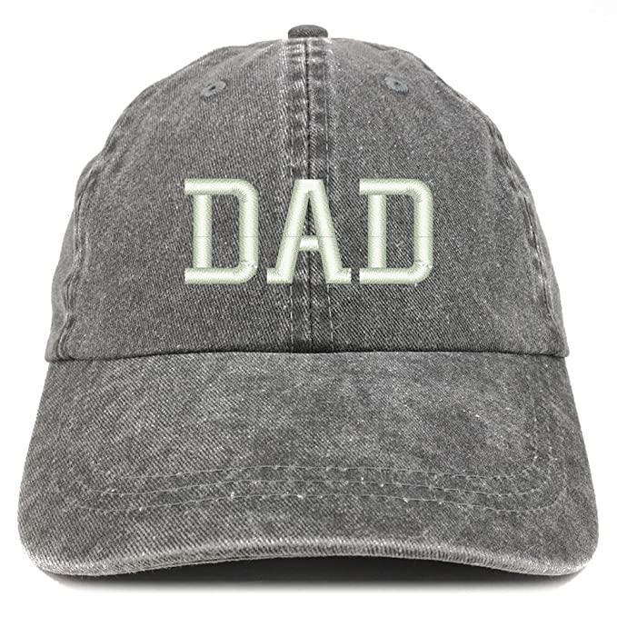 dc789aa159f8d Trendy Apparel Shop Dad Embroidered Pigment Dyed Low Profile Cotton Cap -  Black