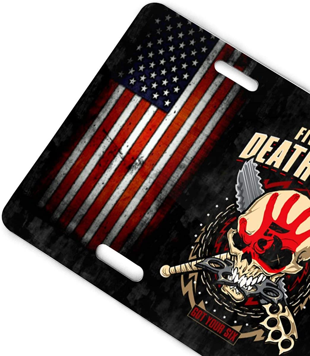 D0zopazkw License Plate Cover Funny License Plate 12 X 6 Five Finger Death Punch