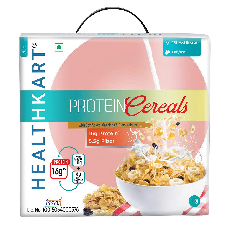 Healthkart Protein Cereal/Muesli 1Kg, with 16g Protein & 5.5g Fibre