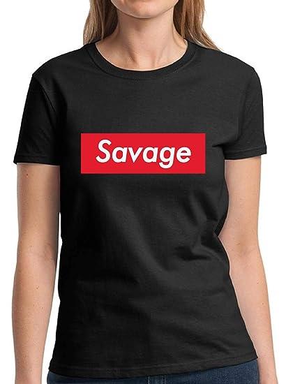d229372df Amazon.com: Raxo Women's Savage Shirt Fun Savage T-Shirts for Women ...