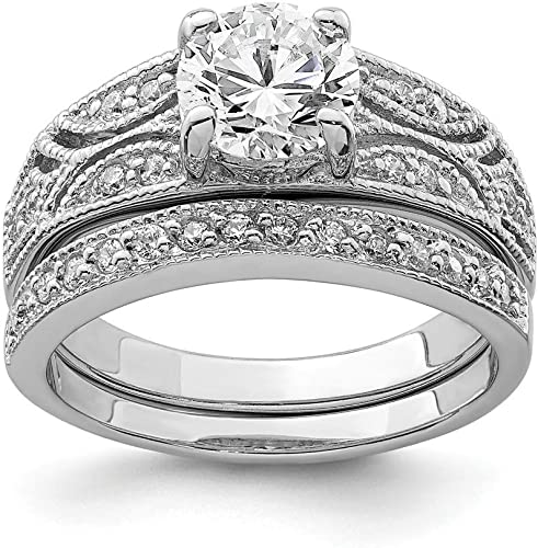 925 Sterling Silver Cubic Zirconia Cz Wedding Ring Band Size 6.00 Fine Jewelry Gifts For Women For Her