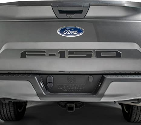 Black FORD F-150 TAILGATE LETTERS THICK PLASTIC by RONIN FACTORY
