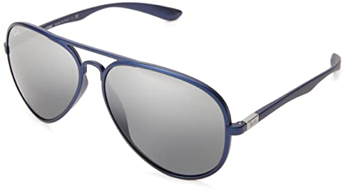 Amazon.com: Ray-Ban 0rb4180 Aviator anteojos de sol, Azul ...