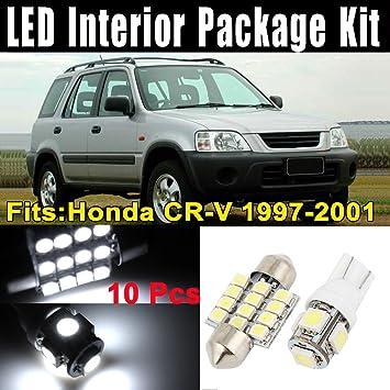 Zantec 10 pcs faros LED luces blanco interior domo tarjeta Kit de lámpara para Honda CR