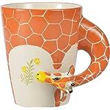 Homee Handmade Creative Art Coffee Mug Ceramic Milk Cups Africa Style Giraffe