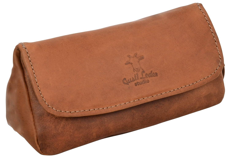 Gusti Leder studio ''Jared'' borsetta porta pipa per tabacco con vano porta tabacco con stoffa interna di gomma naturale marrone 2T6-22-5
