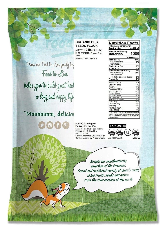 Harina de Chía Orgánicas, 4 Libras - Comida sin OGM, Kosher ...