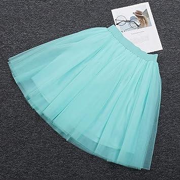 KLGDF Falda 5 Capas 60 cm Falda Midi de Tul Princesa Mujer Adulto ...