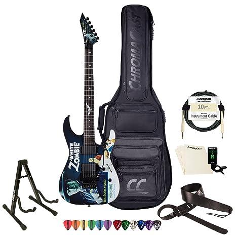 Esp ltd-khwz-wz-kit-1 Kirk Hammett firma negro con blanco