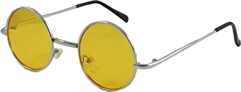 8235ba69b4 Revive Eyewear Men s Lennon Style Round Eye Tinted Non Polarized Sunglasses  50
