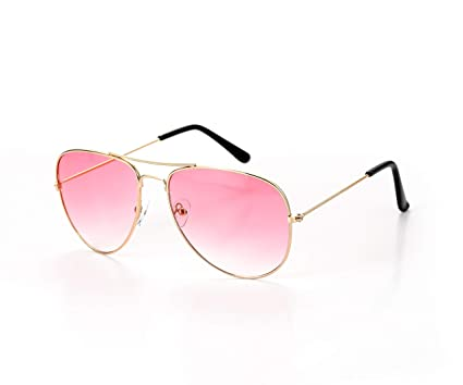 Amazon.com: Aviator Estilo Unisex – Gafas de sol, Color Rosa ...