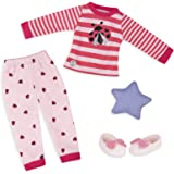 Glitter Girls by Battat Ladybug Shimmer Pajama Top and Pant Regular Outfit/14 Doll Clothes and Accessories