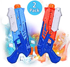 Joyjoz Water Guns, 2 Pack Super Squirt Guns, Summer Swimming Pool Beach Toys, Water Soaker for Kids Boys Girls Adults, Party Favors Water Outdoor Fighting Toys