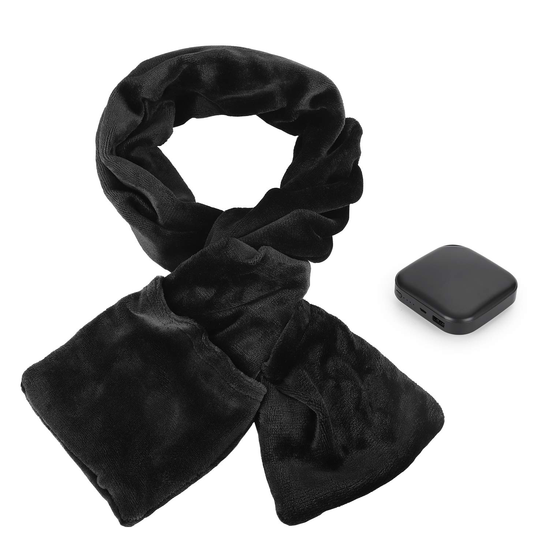 Heated Neck Wrap Electric Warming Scarf USB Heating Shawl Neckwear with Pockets