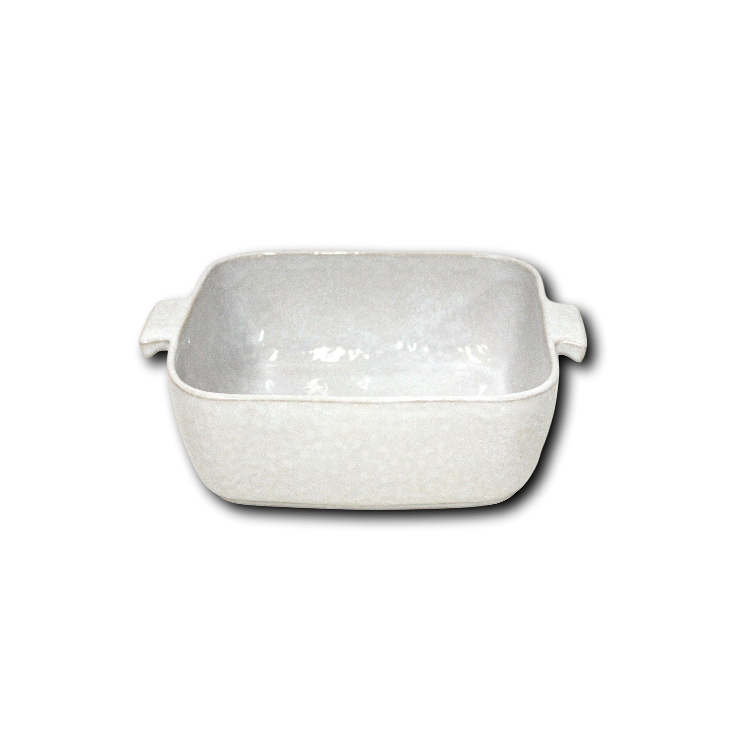 Carmel Ceramica 05-1502 Square Baker, 8'' x 8'' x 3'', White