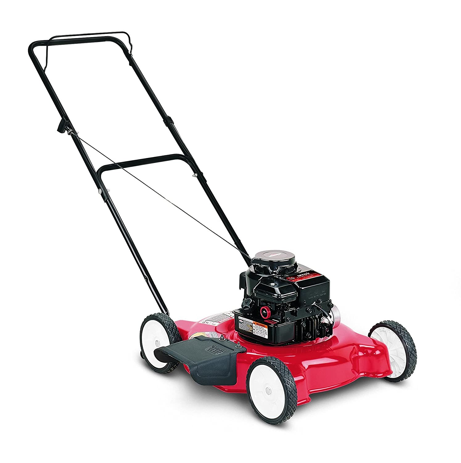 Amazon.com : Yard Machine 11A-020L700 148cc Briggs and Stratton Side  Discharge Gas Powered Push Lawn Mower, 20-Inch : Walk Behind Lawn Mowers :  Garden & ...
