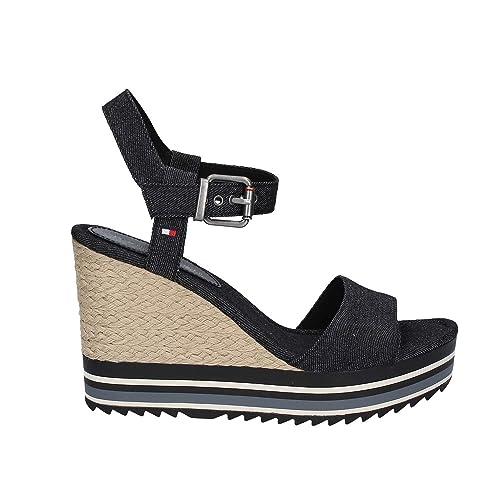 Alpargatas para mujer, color Negro , marca TOMMY HILFIGER, modelo Alpargatas Para Mujer TOMMY HILFIGER VERANICE 1D Negro: Amazon.es: Zapatos y complementos