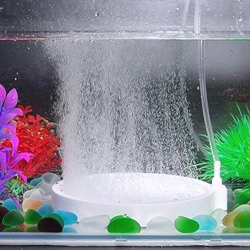 SENZEAL Aire Piedra Ceram Burbuja Piedra Difusor superior del aire del acuario de la burbuja del ...