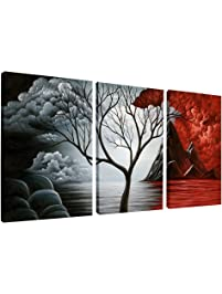 Posters amazon wieco art the cloud tree wall art oil paintings giclee landscape canvas prints for home decorations sciox Images