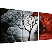 Wieco Art - Modern Abstract Seascape Canvas Prints Wall Art