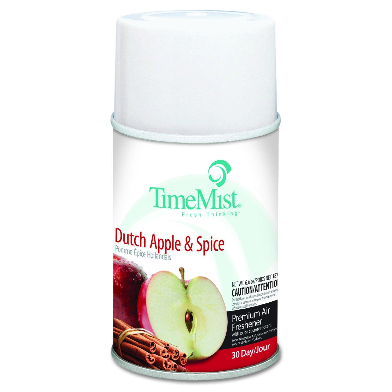 TimeMist 1042818 Fragrance Dispenser Refills, Dutch Apple & Spice, 6.6 oz (Case of 12)