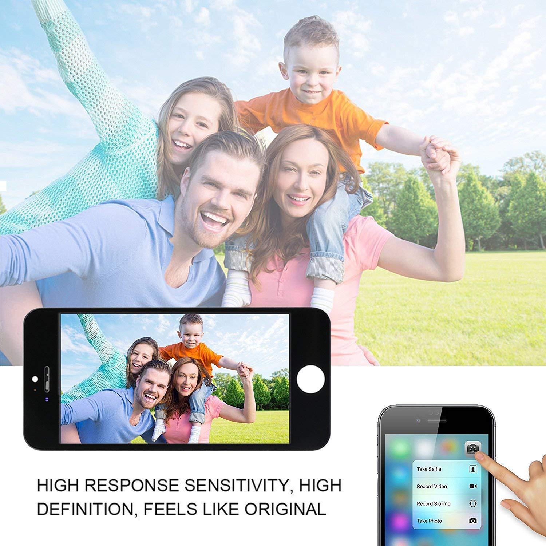 FLYLINKTECH F/ür iPhone 8 Display Wei/ß LCD 3D Touchscreen Digitizer Assembly mit Werkzeuge und Displayschutzfolie F/ür iPhone 8 Wei/ß 4.7